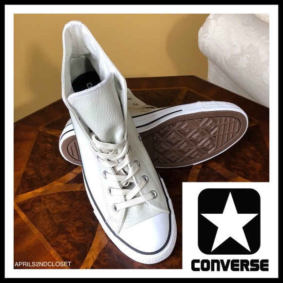 82038a5d7eac CONVERSE CHUCK TAYLOR LEATHER HIGH TOPS SNEAKERS
